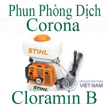 Phun Phòng Dịch Virus Corona bằng Cloramin B